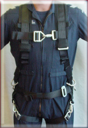 Harness Fitting 1 sets safety equipment technical services pty ltd restraint harness